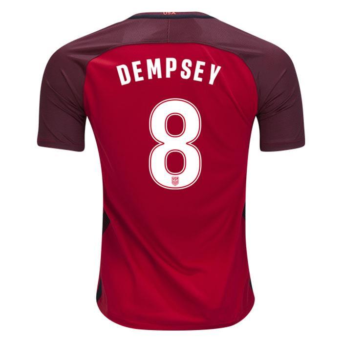 184aab6a62d3 Nike USA 2016 17 Men s 3rd Jersey Short Sleeve Dempsey 8 Red 1704