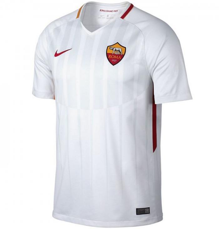 23227196a15b Nike Roma 2017 18 Men s Away Jersey White short sleeve 1707