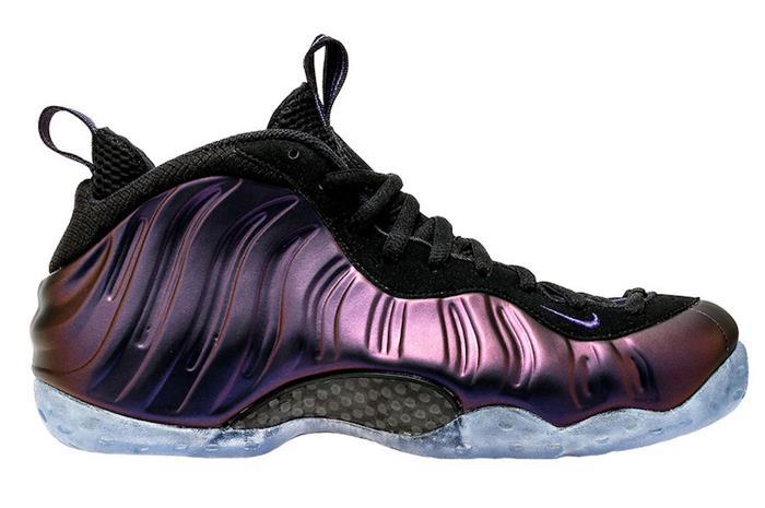 Nike Air Foamposite One Black/Purple Eggplant Men's Basketball Shoes 314996-008 yOJqk
