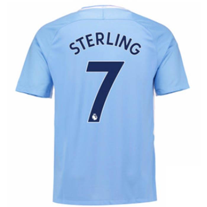 f41c2645ffbc Nike Manchester City 2017 18 Men s Home Jersey SL Sterling 7 Blue ...