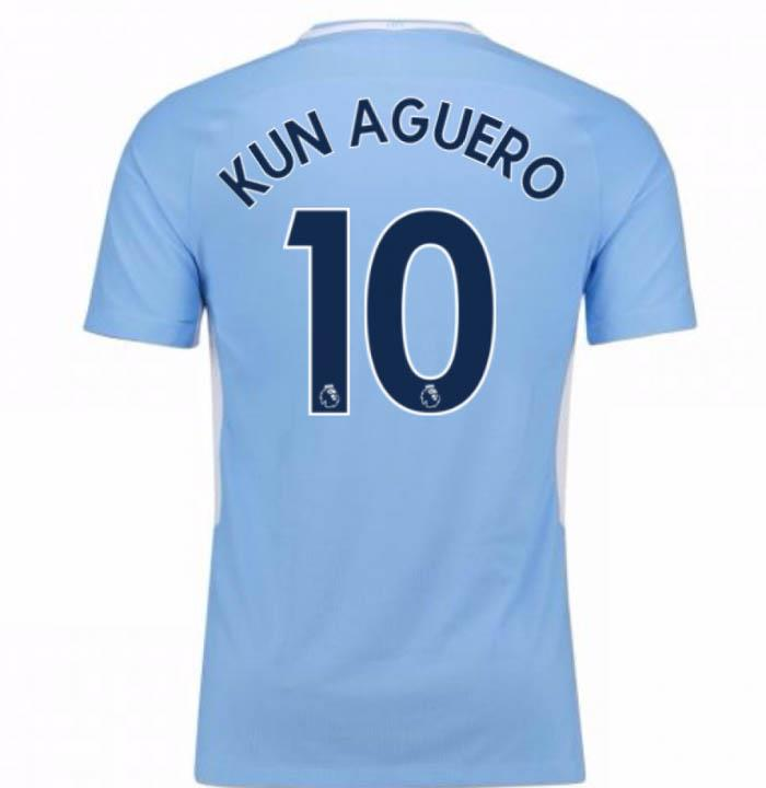3c1bac875068 Nike Manchester City 2017 18 Men s Home Jersey SL Aguero 10 Blue Sky ...