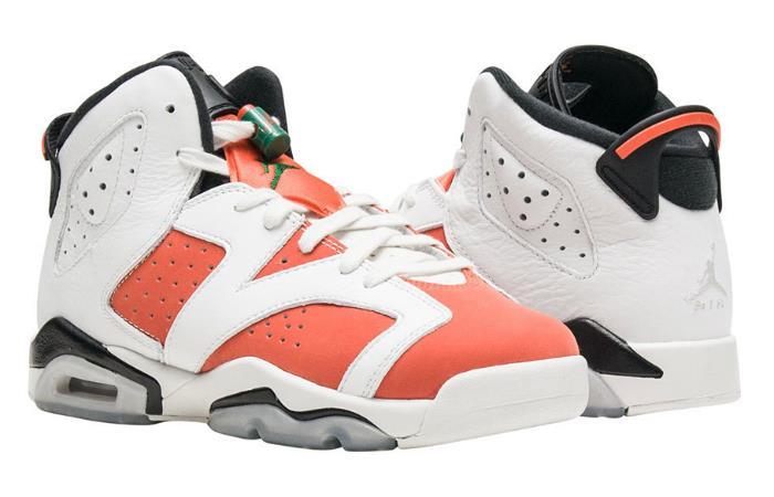 1712 Nike Air Jordan 6 Retro Men's Basketball Shoes 384664-145