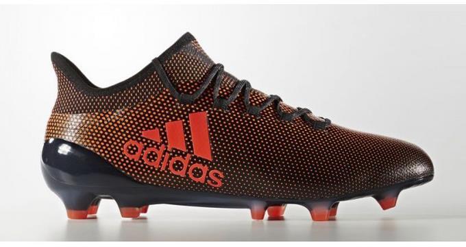 adidas X 17.1 Men 's FG Soccer Cleats Football Shoes Black-Solar Orange 1801