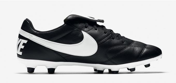 Nike Premier II Men's FG Soccer Cleats Football Shoes Black-White 1801