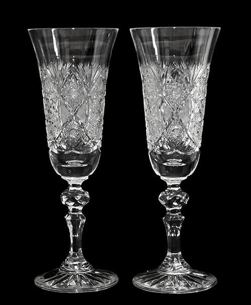 Czech Bohemian Vintage Leaded Crystal Hand Cut Blown