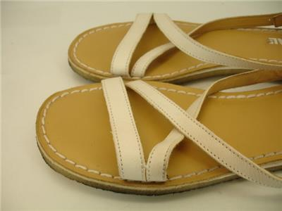 b253b584d30e Womens 10 M Clarks Originals Kestral Soar Sandals White Leather Flat  Slingbacks