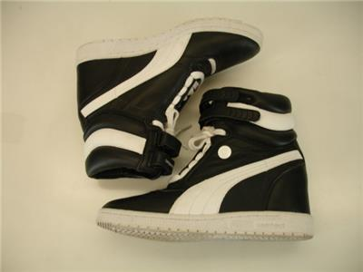97130027d2b6cb Womens sz 9.5 Puma Blackstation x Mihara Yasuhiro MY-66 Black Shoes Hidden  Wedge