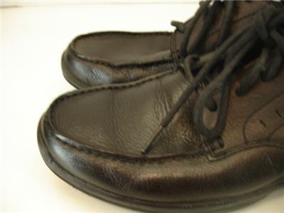 Mens 9 M Rockport Kourt K56534 Black Leather Oxfords Shoes Dress
