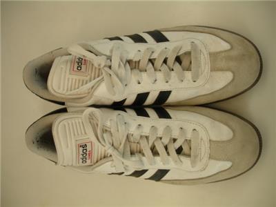 5b5e1bbe625 Mens 10.5 M Adidas Samba Classic Indoor Soccer Shoe White Black 772109  Sneakers