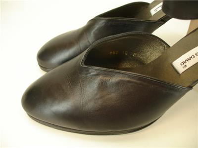 983f22fd16a Womens 10 M Charles David Vtg Black Shoes Heels Pumps Victorian Steampunk  Granny