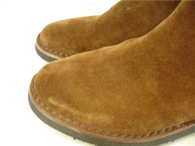 16b2f11ce1d65f Mens 8.5 D M Frye Arden Weston Chelsea Brown Suede Leather Boots Ankle  Slip-On