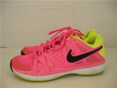 pretty nice 19dab 633c8 Womens sz 9 Nike Air Vapor Advantage Shoes Sneakers Trainers PINK POW VOLT  BLACK