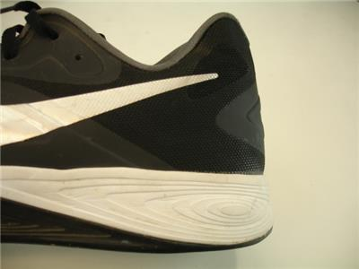 differently 30b11 8cfca Mens sz 17 51.5 Nike Air Zoom Hyperfuse Low Basketball Shoes Black Silver  White