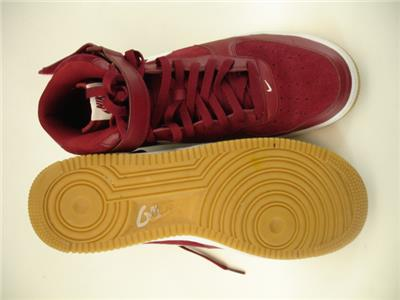 buy popular a7214 5f4a0 Mens sz 11 45 Nike Air Force 1 07  07 Mid Team Red White Gum Light ...