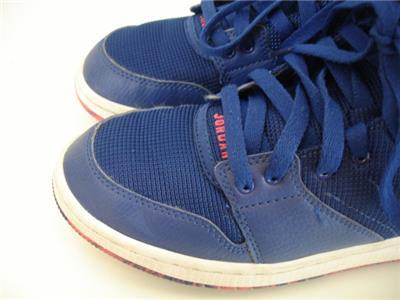 fc884e70fa Boys Girls Youth 6Y NIKE Air Jordan 1 Flight 4 Prem Royal Blue Basketball  Shoes