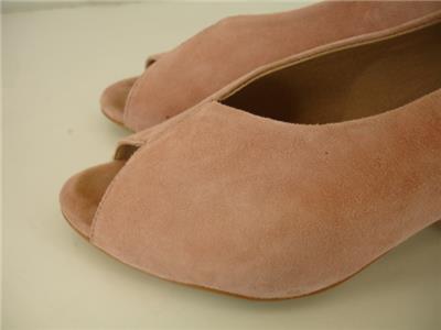 6e5ba8cb81c Womens 8.5 M M4D3 Safi Slingback Sandals Apricot Pink Suede Pump 2.5