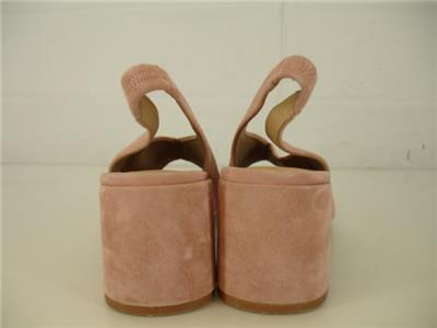 a39cf873b6c Womens 8.5 M M4D3 Safi Slingback Sandals Apricot Pink Suede Pump 2.5 ...