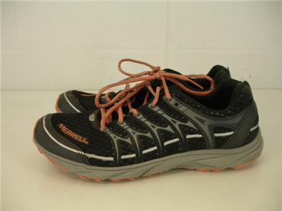 Trail Running Shoes Carbon Coral Black