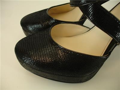 5f758bad57cd Womens 6.5 M Calvin Klein Sasha Black Platform Shoes Pump 4