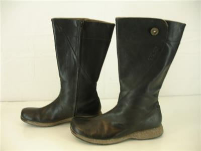 c27d0a457be2f Womens sz 11 M Teva Black Leather 4027 Montecito Tall Side Zip Waterproof  Boots