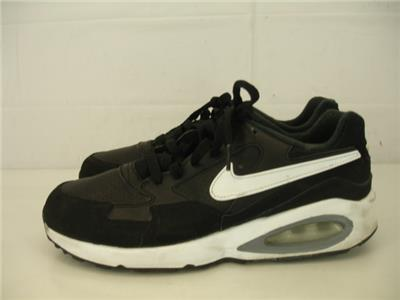 premium selection 903a9 57241 Nike Air Max St GS Kids Youth Boys Girls 7Y 7 Black White Leather Running  Shoes