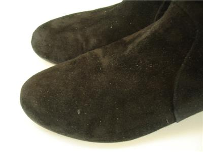 1dc359a6e3e Eileen Fisher Womens 8 M Irwin Booties Black Suede Leather Ankle ...