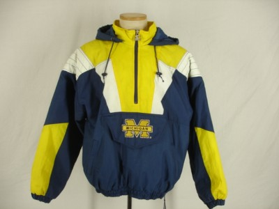Mens NCAA Michigan Wolverines Starter winter Jacket Coat