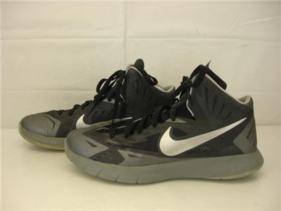Mens 10.5 Nike Lunar Hyperquickness Black Metallic Silver Grey 652777-004 Shoes