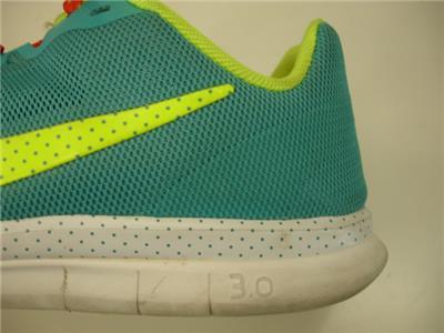 Womens sz 6.5 Nike Free 3.0 Advantage 579964 300 Green Teal