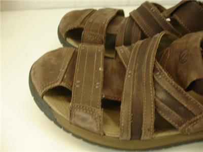 170f7ced4333 J62213 Merrell Traveler Fisher Mens 15 M Espresso Brown Leather Sandals  Buckle