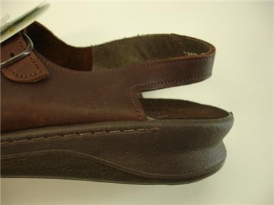 759ff8e4021 Womens 12 M Clarks Springers Brown Leather Three Strap Sandals Slingback  Comfort