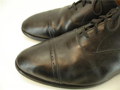 b8fe1d3b72b Mens 11 E W Brooks Brothers Made in England Black Leather Shoes Oxford Cap  Toes