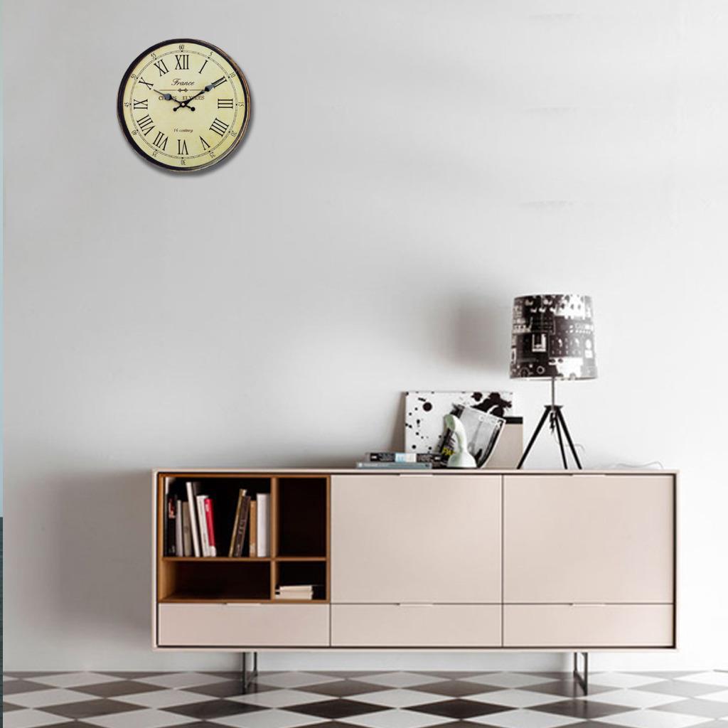 Vintage Roman Numeral Design Clocks Home Kitchen Decor