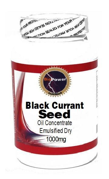 Black Currant Seed Oil 1000mg 180 Capsules Biopower