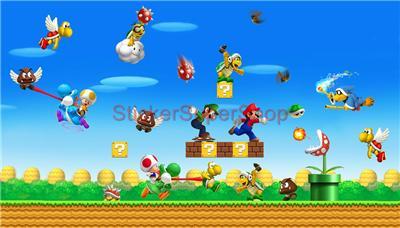 Super Mario Bros World Set Wall Border Sticker Decal