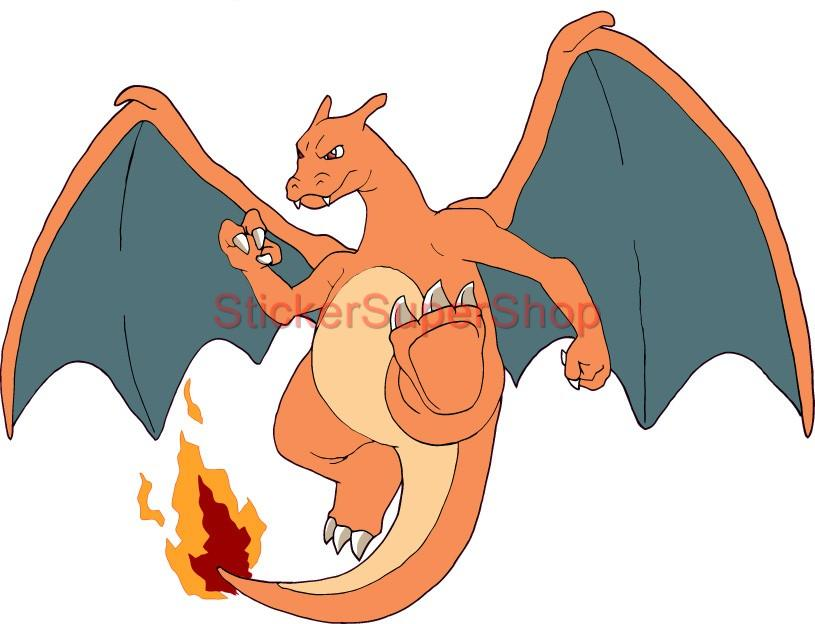 choose size charizard pokemon decal removable wall sticker home decor art room ebay. Black Bedroom Furniture Sets. Home Design Ideas