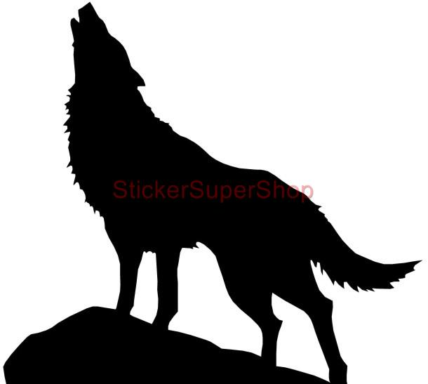 Choose Size Wolf Silhouette Decal Removable Wall Sticker Personalized w' Name