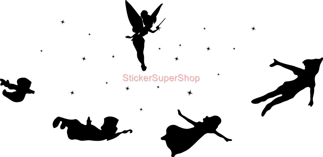 picture regarding Tinkerbell Silhouette Printable known as Peter Pan Silhouette Tinkerbell Silhouettes -