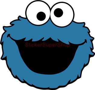 Monster High Ebay >> COOKIE MONSTER SESAME STREET Decal Removable WALL STICKER Home Decor Art Kids | eBay