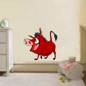 choose size pumbaa lion king disney decal removable wall sticker home decor art ebay. Black Bedroom Furniture Sets. Home Design Ideas