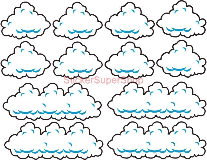 Super Mario Bros Clouds Set Decal Removable Wall Sticker Home Decor Art Kids