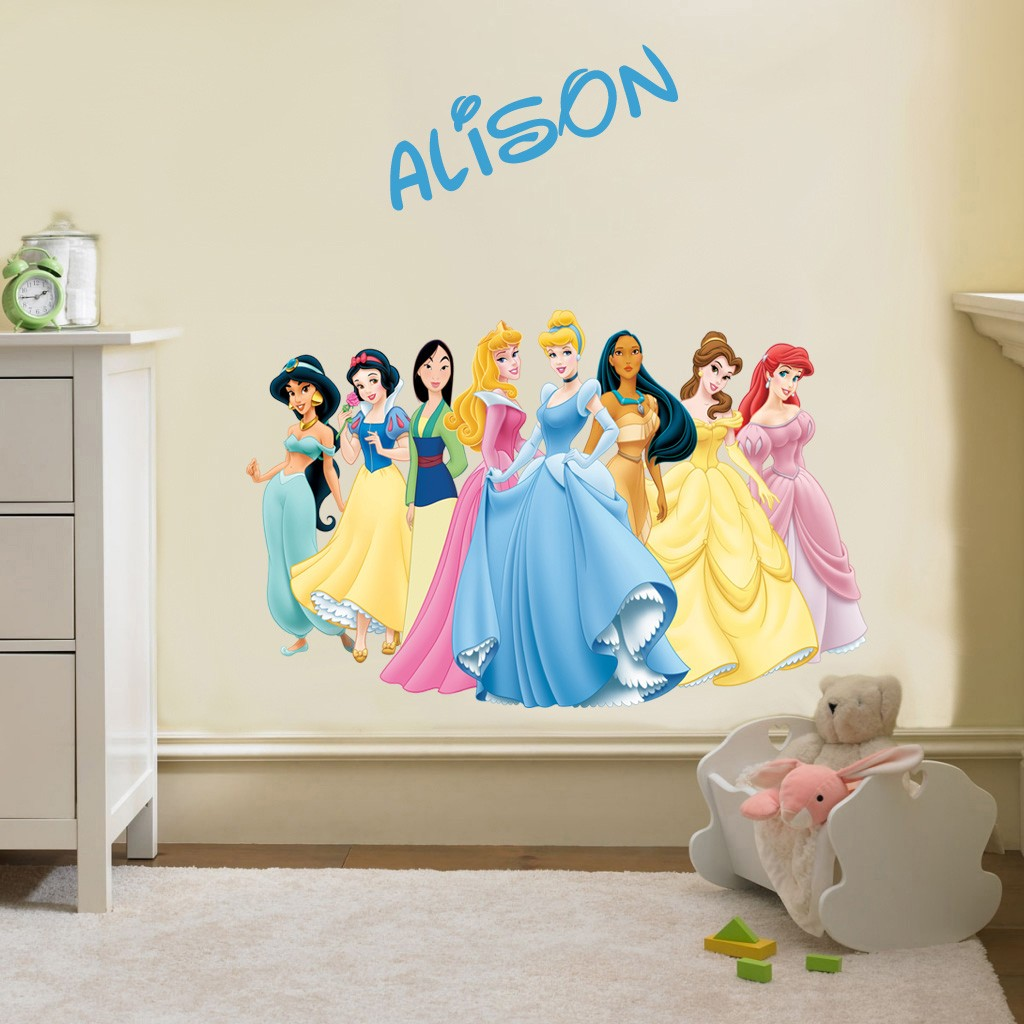 Personalized Disney Princess Group Decal Removable Wall ...