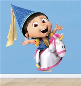agnes despicable me decal removable wall sticker home decor art