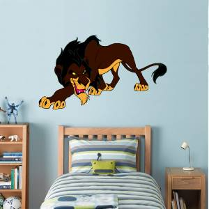 scar lion king decal removable wall sticker home decor art disney kids bedroom ebay. Black Bedroom Furniture Sets. Home Design Ideas