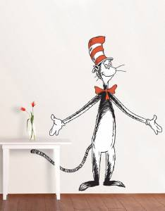 CAT IN THE HAT - Dr. Seuss WALL STICKER & DR. SEUSS CAT IN THE HAT Decal Removable WALL STICKER Home Decor Art ...