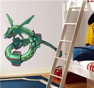 rayquaza pokemon decal removable wall sticker home decor art kids ebay. Black Bedroom Furniture Sets. Home Design Ideas