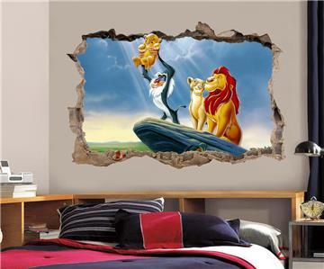 LION KING Simba Smashed Wall Decal Graphic Wall Sticker ...