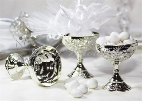 12 Gold Or Silver Wedding Favor Chalice Goblet Cups