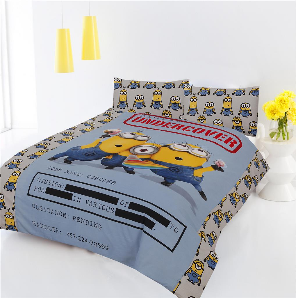 NEW MINIONS UNDERCOVER DOUBLE SIZE KIDS BED 100% COTTON ...