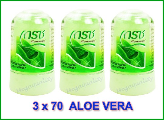3 X 70 G Grace Natural Crystal Deodorant Aloe Vera
